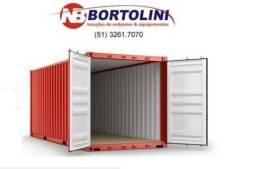 """Container Marítimo 20"""" 6m Locação / Aluguel"""