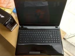 Notebook Dual Core, 4GB de RAM e HD de 320GB