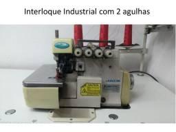 Máquina de Costura Industrial - Elastiqueira - Ponte Cadeia - Interlock