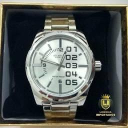 af79147b6de Relógio Importado em Aço Inoxidável Original a Prova D água