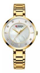 Relógio Feminino Curren Analógico - Dourado