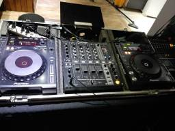 Par de cdj Pioneer 850 k +Mixer DJM-700+case