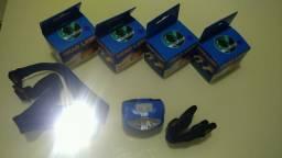 Lanterna cabeça LED COB pilha - cartão crédito e débito