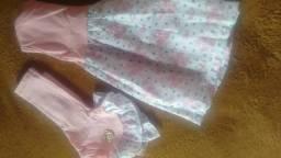 Conjunto de vestido e colete tamanho p