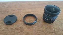 Lente 8mm Sigma, F/3.5 Ex Dg para Canon