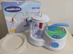 Aspirador Cirúrgico de Sangue e Saliva Medicate MD 100 (Bomba vácuo aspiradora)