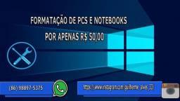 Formatação de PCs e notebooks por apenas R$ 50