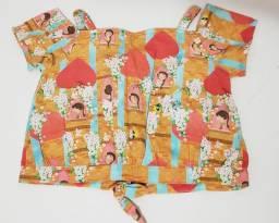 Blusa infantil menina tam6 Alphabeto