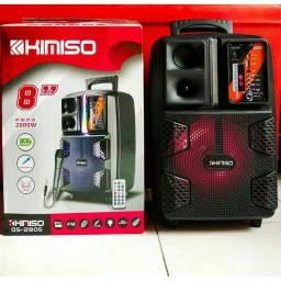 Caixa de som Kimiso Qs ? 2805 amplificadora 2000W r.m.p.o<br>