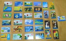 Cartões telefônicos diversos - Lote com 33 peças