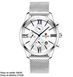 Relógio masculino original Reward cronógrafo