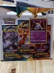 Triple Pack Pikachu Pokémon Swsh3 Escuridão Incandescente 19 cartas
