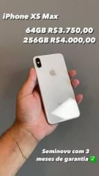 Iphone XS Max 64GB e 256 GB Semi Novo