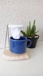 Porta copos madeira pinus para mesa posta