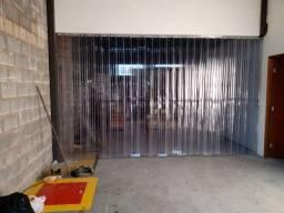 Cortina Câmara frigorifica em Pvc transparente reforçada completa, trilho PP inetado