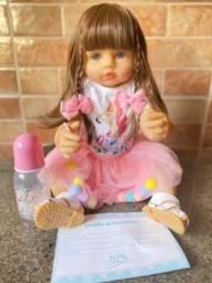 Linda boneca bebê Reborn toda em Silicone realista Nova Original (aceito cartão)