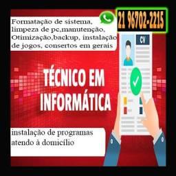 Título do anúncio: Técnico em Informática - Parcerias - Atendo a domicílio