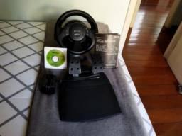 Título do anúncio: Volante de jogos Microsoft SideWinder Force Feedback Wheel - R$350,00/unidade - Tenho 3 un