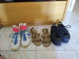 3 sapatos melissas