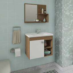 Gabinete Banheiro com Pia e Espelheira Lótus - Mgm Móveis