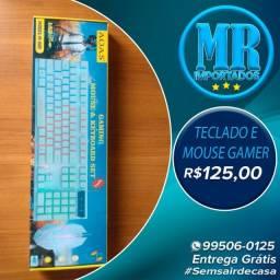 Kit teclado com led RGB e mouse gamer AOAS (fazemos entrega)