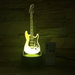 Guitarra 3d. Led configura 7 cores