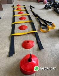 Equipamento Funcional - Trx, Escada e Chapéu Chinês