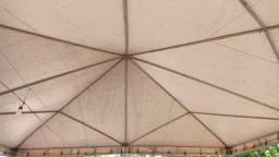 tenda 8x8 conservada faço troca
