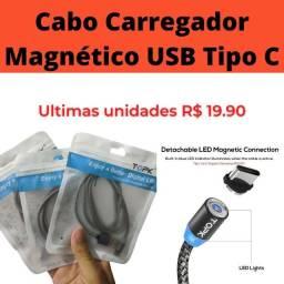 Cabo carregador Magnético USB Tipo C