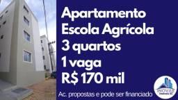 Apartamento 3 quartos 1 vaga na escola agrícola prox. ao Top