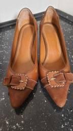 Desapego Sapato Couro Marrom, 37