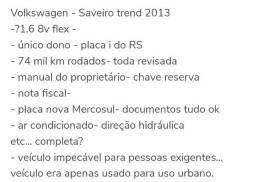Saveiro trend estendida 2013 impecável