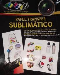 Papel Transfer Sublimático A4 com 20 folhas 100gramas