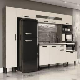 Cozinha Pérola Compacta 9 Portas 1 Gaveta GenialFlex Demolição/Off White CestaPlus