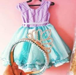 Vestido + tiara princesa