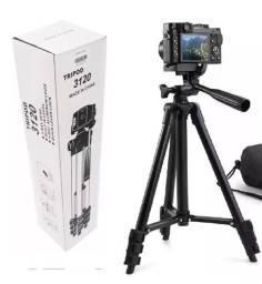 Tripé grande para máquinas fotográficas e celulares 1,02 mts