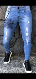 Calça jeans skinny Codi! Detalhe corrente dupla. Chama no ZAP: *