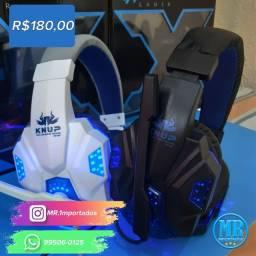 Fone De Ouvido Gamer Headset Com Led Jogos Gaming Pc (entrega grátis)
