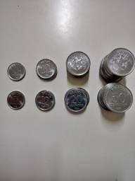 Moedas de 5..10...20 e 50 Centavos 1986 Lote com 45 Moedas