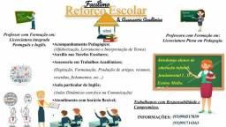 Reforço Escolar, Assessoria Acadêmica e Aulas de inglês.