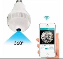 Lâmpada espiã com wi fi câmera de segurança