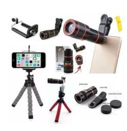 Super Kit fotografia com telescópio para celular mais tripé