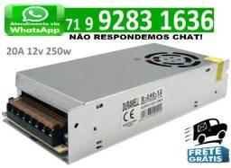 Fonte Chaveada 20a 12v 250w P/ Cftv Fita Led Som Automotivo 20 Amperes 12 Volts