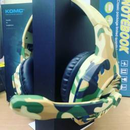 Headset Game camuflado