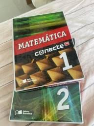 Título do anúncio: Livros de Matemática Conecte Lidi 1 e 2
