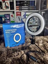 Iluminador Ring Led Light Tripé + Suporte Lam-8479 / Bj-20d
