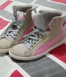 Tênis Pulma rosa/cinza
