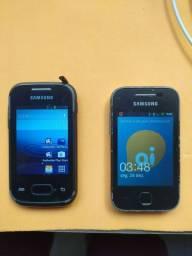02 celulares antigo funcionando perfeitamente