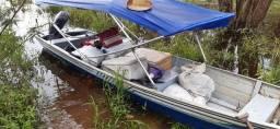 Motor popa susuki 15hp+canoa 6 m