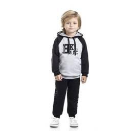 Conjunto Infantil Masculino Blusa - Calça Jogguer Moletom Bkl TMX